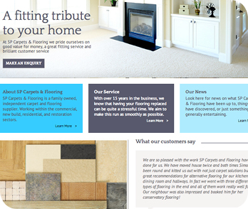 SP Carpets and Flooring website